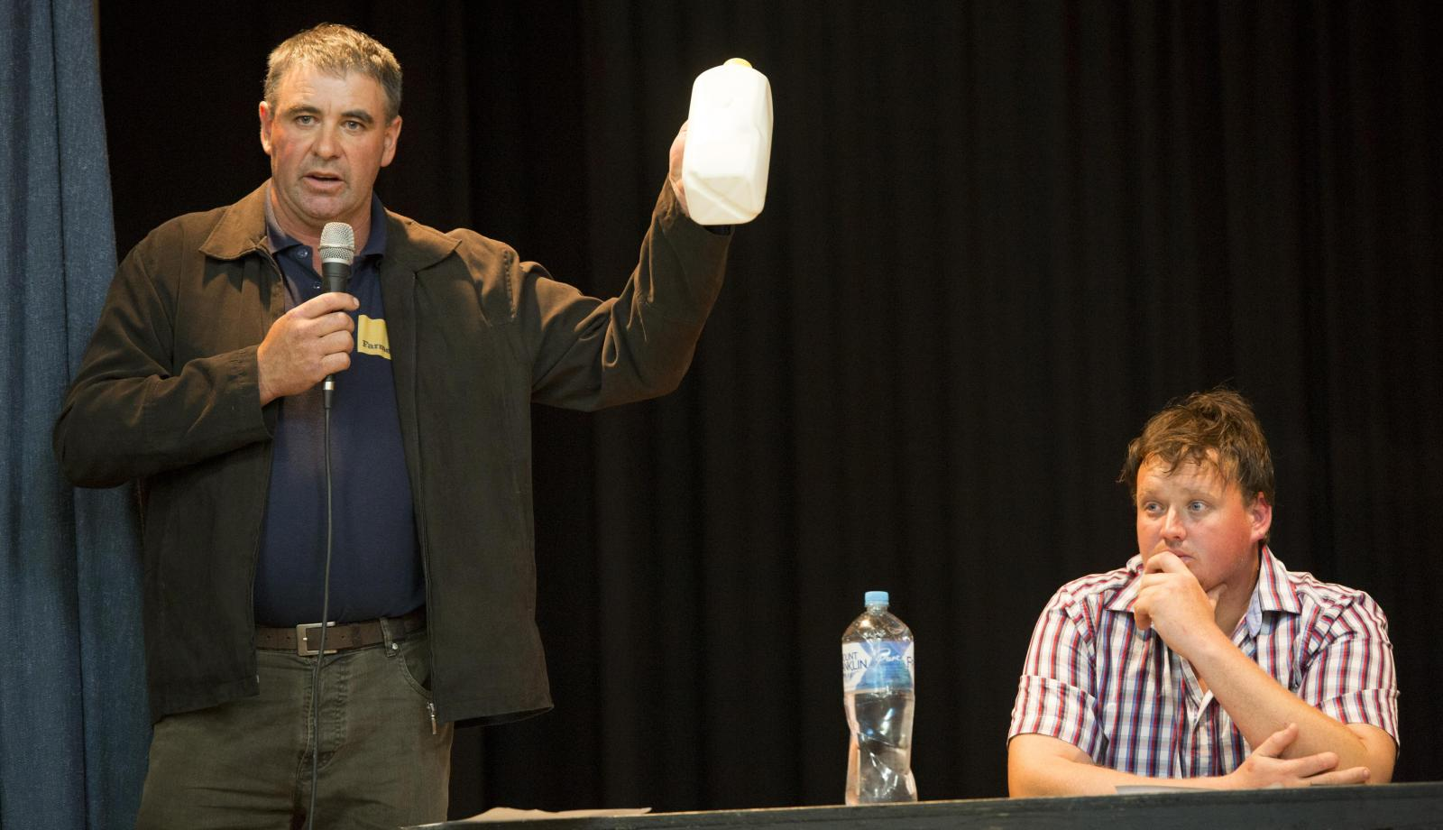 Farmers protest milk price cuts