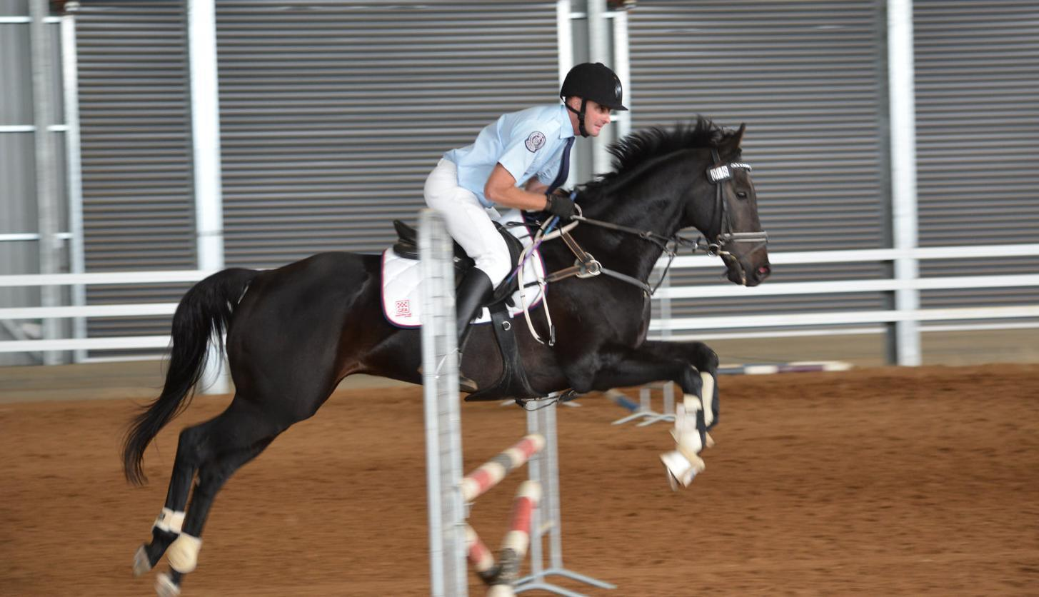 Police and CFA swap uniforms for saddles