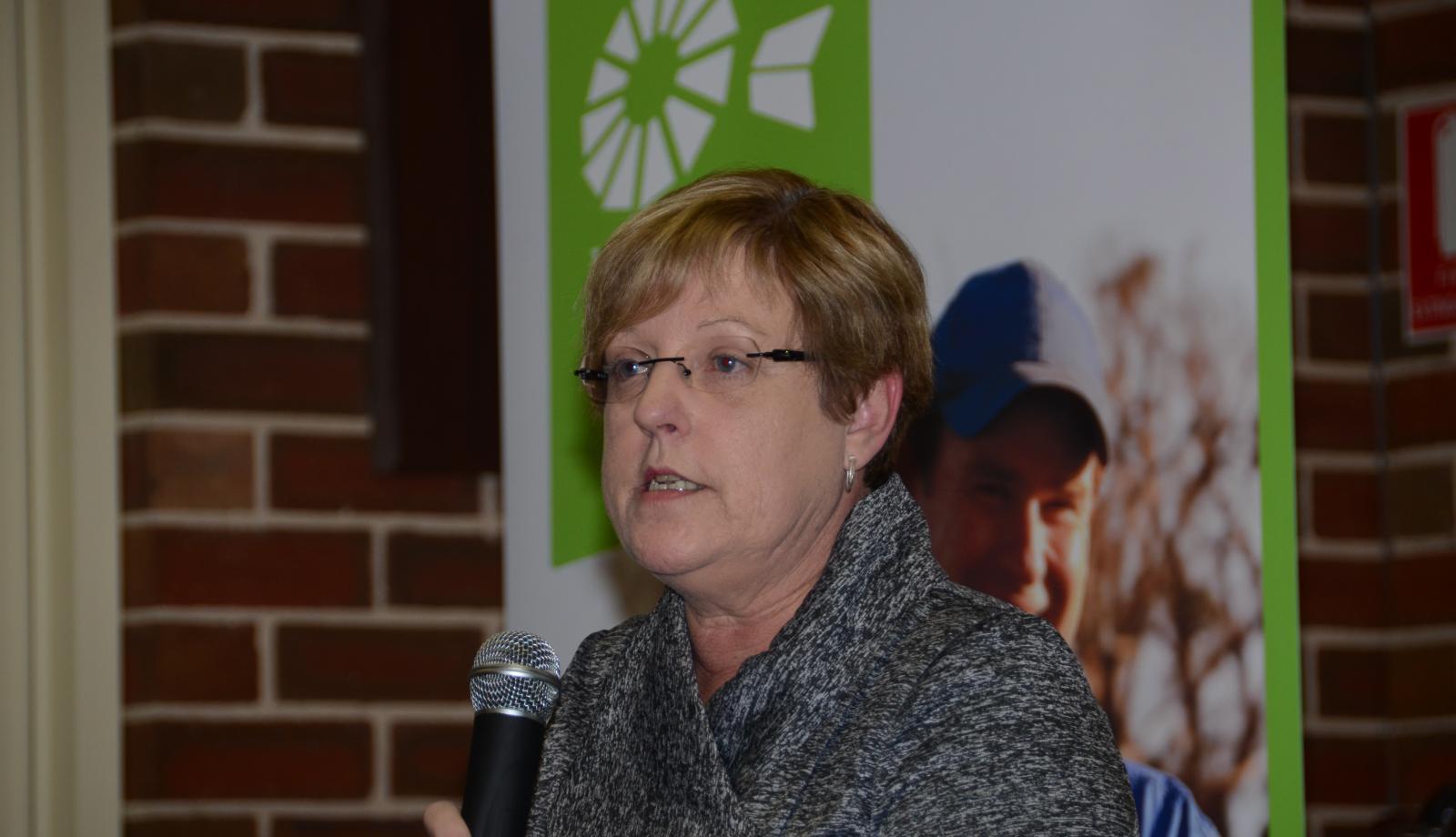 Lisa Neville at Echuca on Thursday