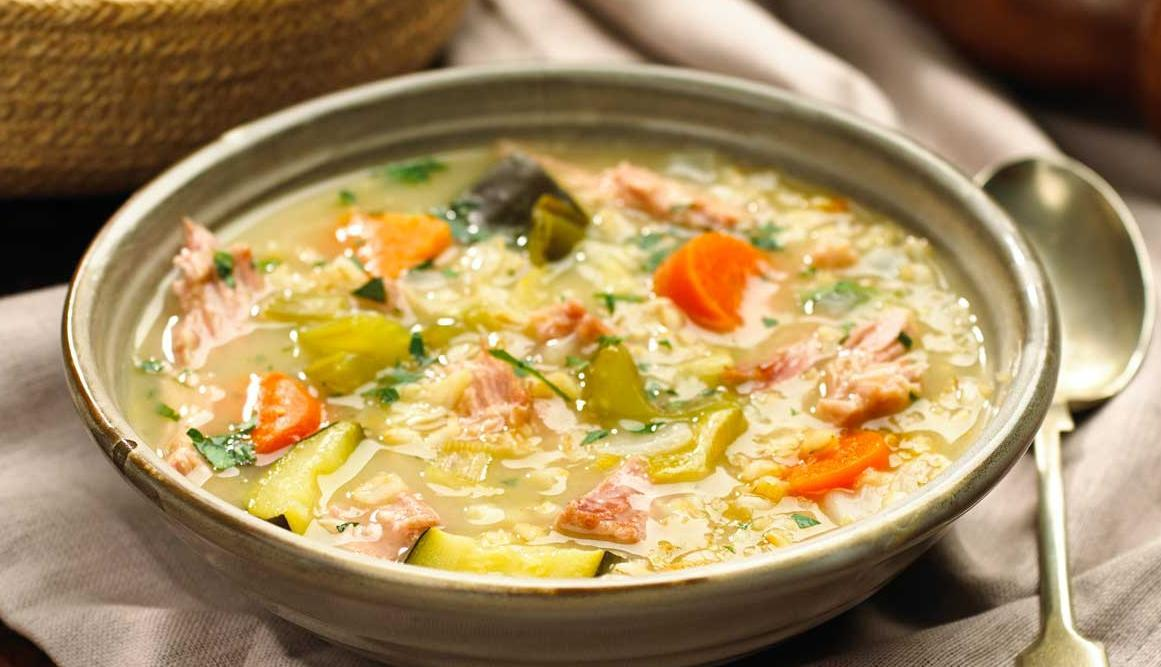 Chunky Ham and Vegetable Broth