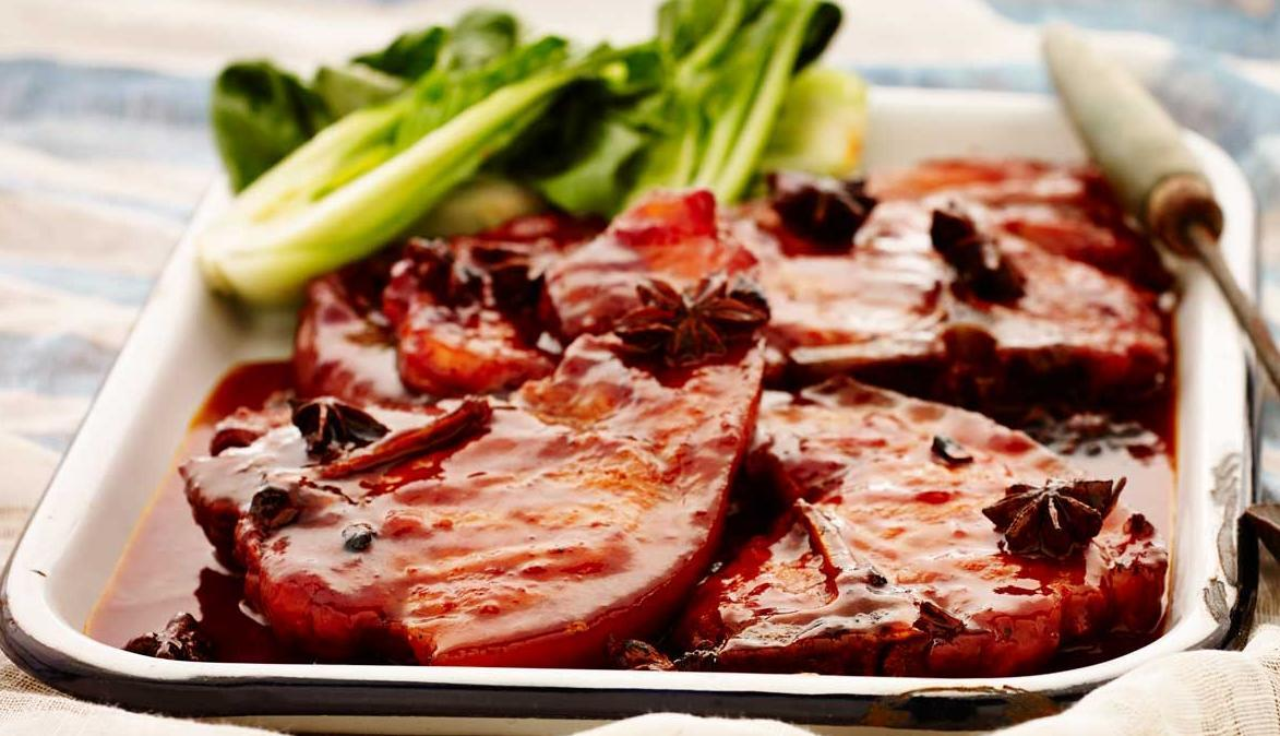 Braised Asian Plum Pork Chops