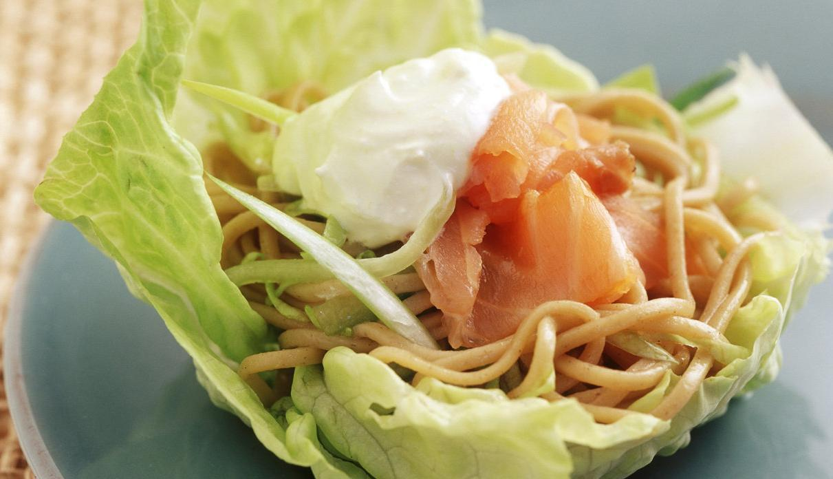 Soba Noodle Salad with Wasabi Yoghurt Dressing