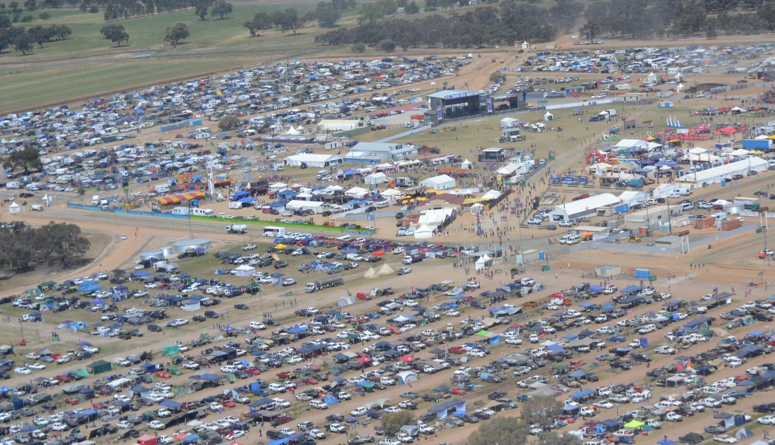 Deni Ute Muster delivers a party on the plains