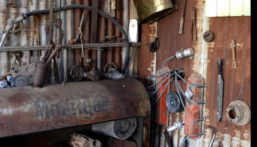 Shed of salvaged treasures